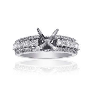0.75 Ct Diamond Engagement Semi-Mounting 14K Gold